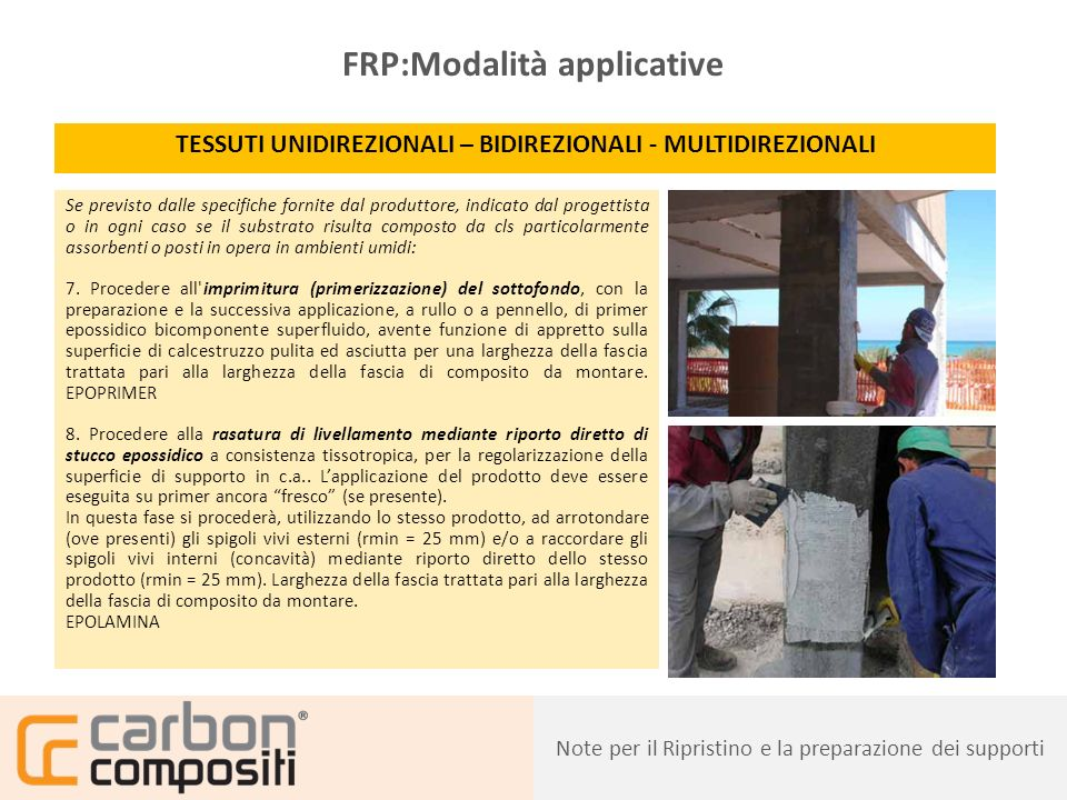 FRP:Modalità applicative