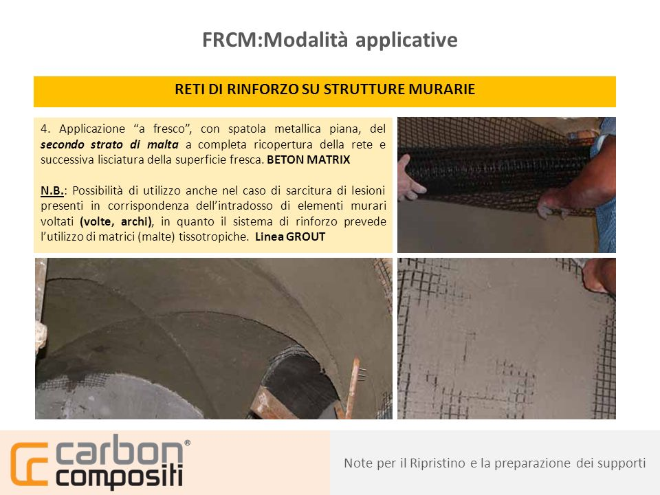 FRCM:Modalità applicative