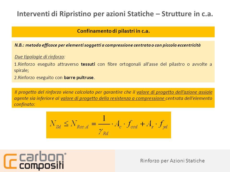 Interventi di Ripristino per azioni Statiche – Strutture in c.a.