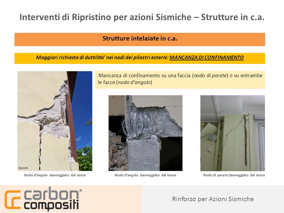 Interventi di Ripristino per azioni Sismiche – Strutture in c.a.