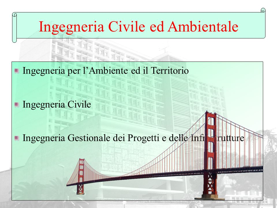 Ingegneria Civile ed Ambientale