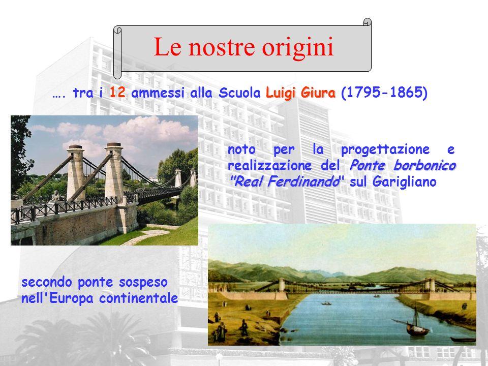 Le nostre origini…. tra i 12 ammessi alla Scuola Luigi Giura (1795-1865)