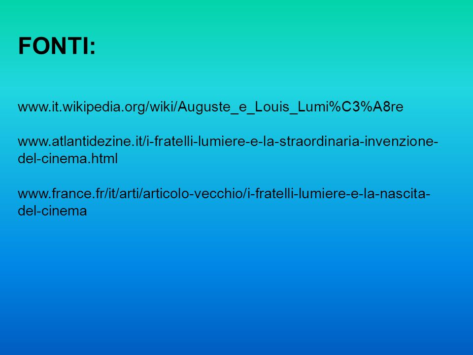 FONTI: