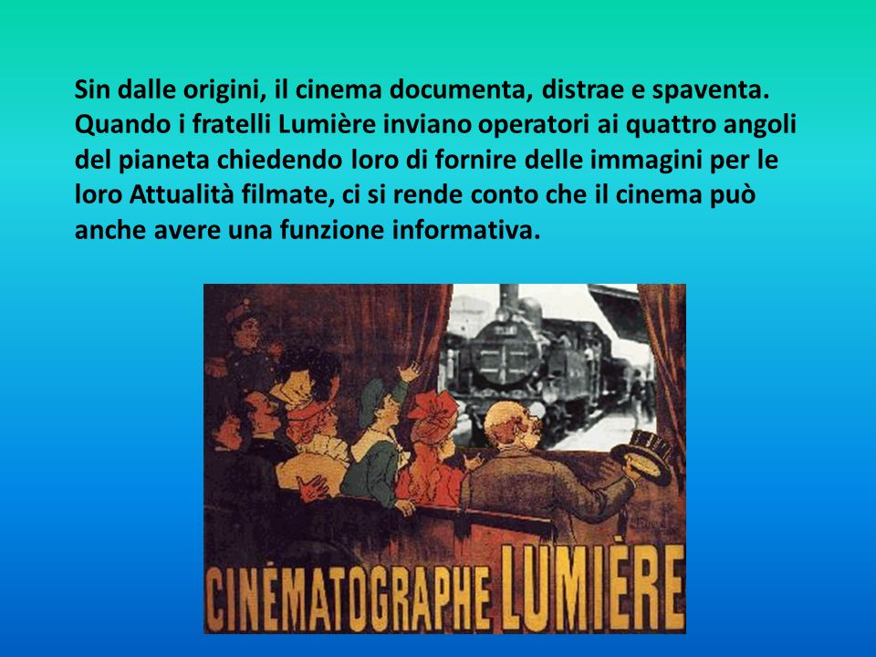 Sin dalle origini, il cinema documenta, distrae e spaventa