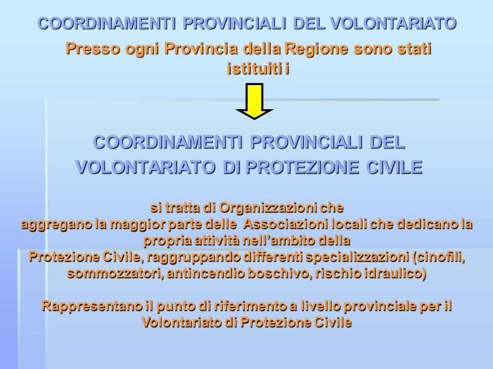 COORDINAMENTI PROVINCIALI DEL VOLONTARIATO DI PROTEZIONE CIVILE
