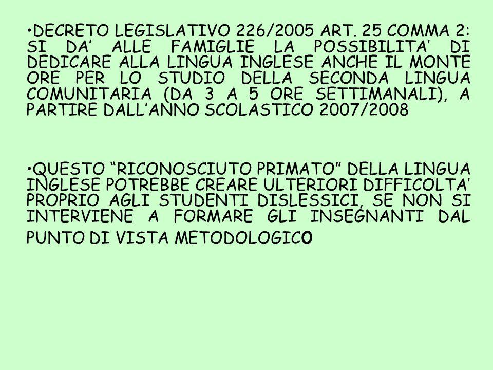 DECRETO LEGISLATIVO 226/2005 ART
