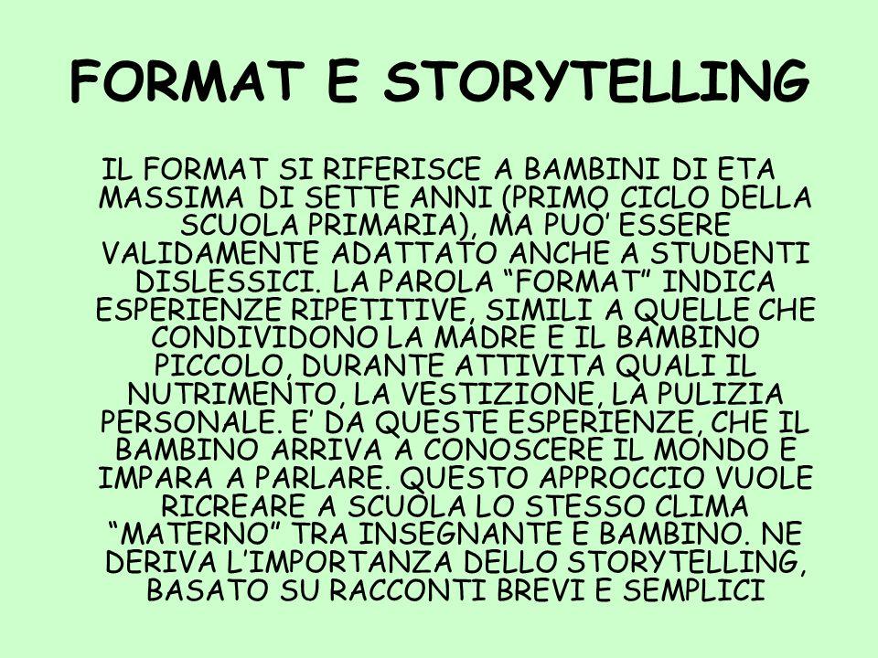 FORMAT E STORYTELLING