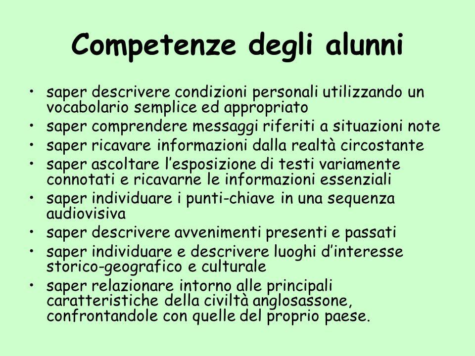 Competenze degli alunni