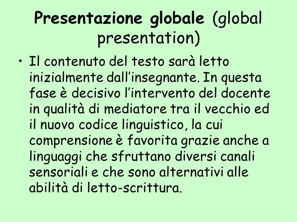 Presentazione globale (global presentation)