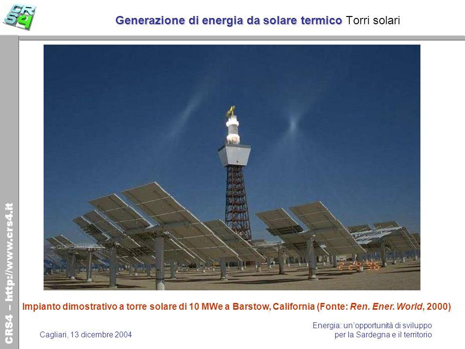 Generazione di energia da solare termico Torri solari