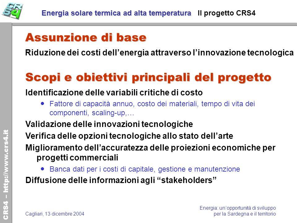 Energia solare termica ad alta temperatura Il progetto CRS4