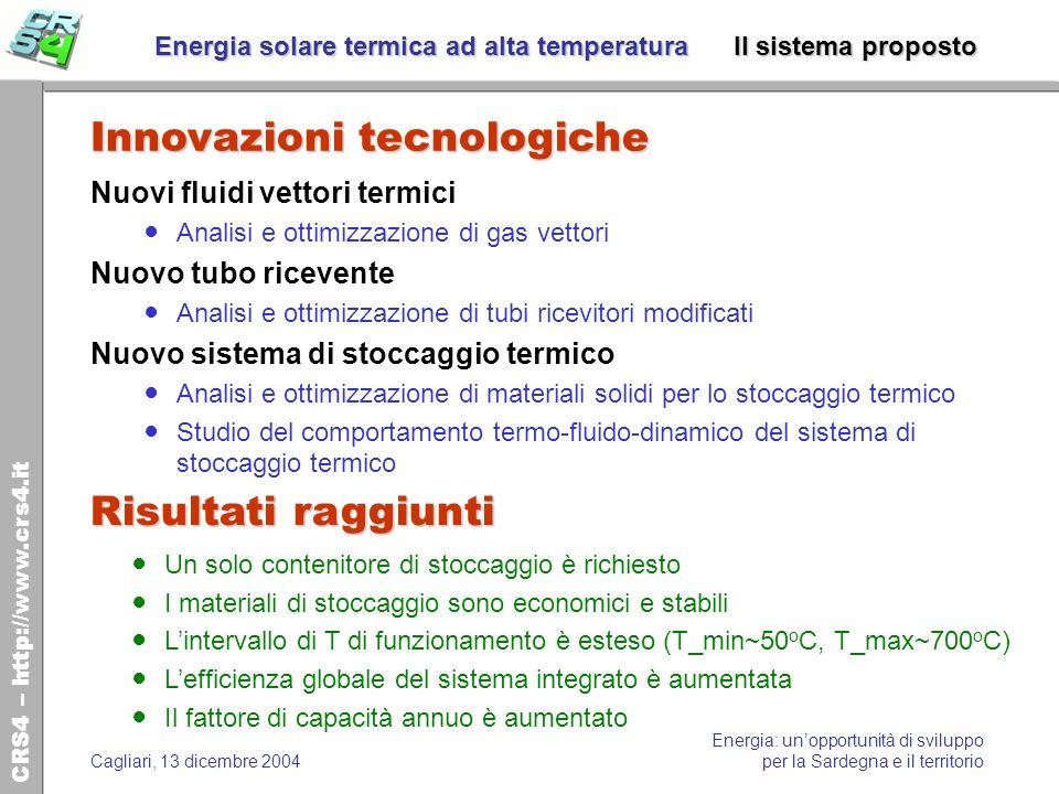 Energia solare termica ad alta temperatura Il sistema proposto