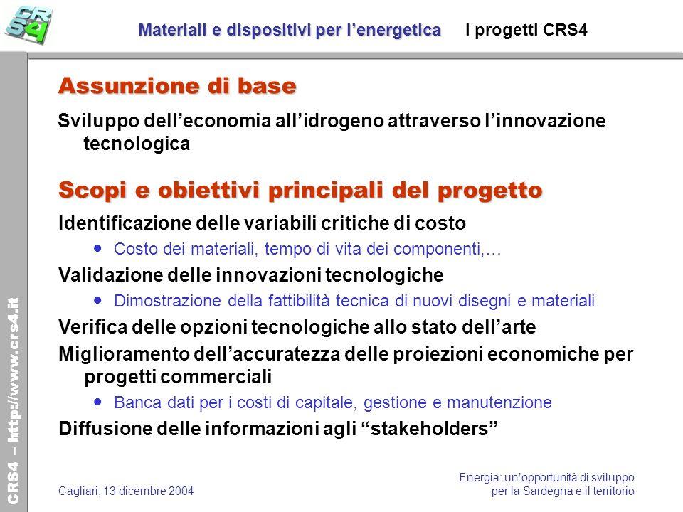 Materiali e dispositivi per l'energetica I progetti CRS4