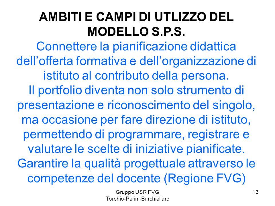 AMBITI E CAMPI DI UTLIZZO DEL MODELLO S.P.S.