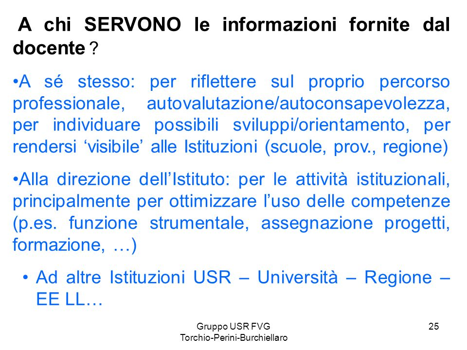 Gruppo USR FVG Torchio-Perini-Burchiellaro