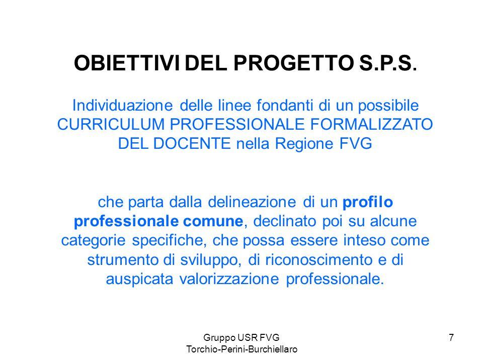 OBIETTIVI DEL PROGETTO S.P.S.
