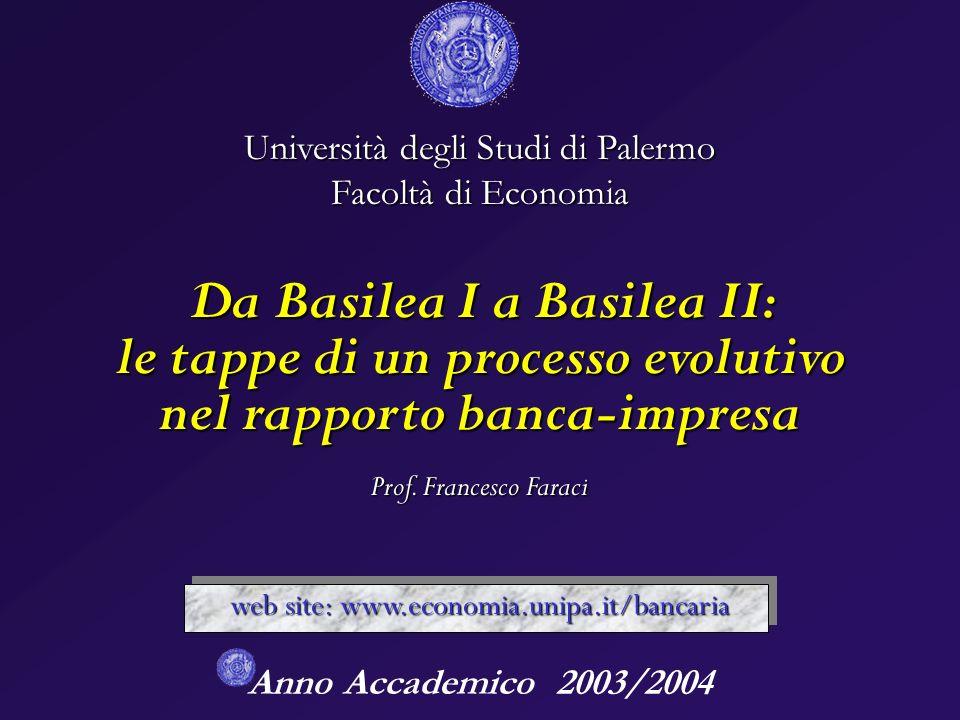 Da Basilea I a Basilea II: le tappe di un processo evolutivo