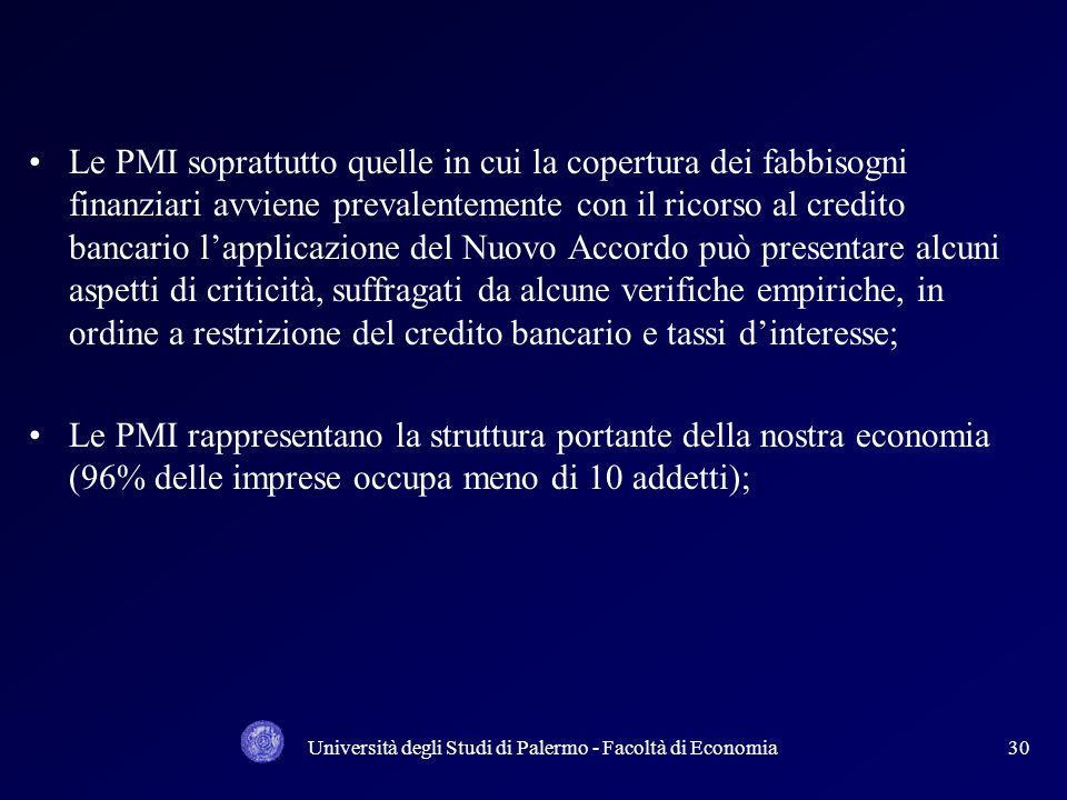 Università degli Studi di Palermo - Facoltà di Economia