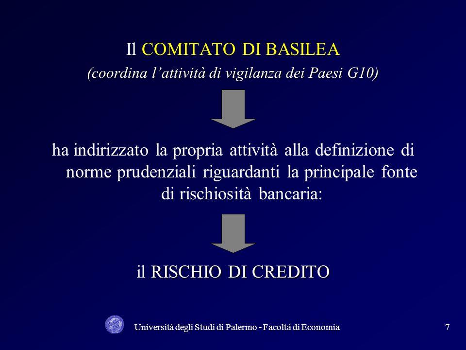 Il COMITATO DI BASILEA (coordina l'attività di vigilanza dei Paesi G10)