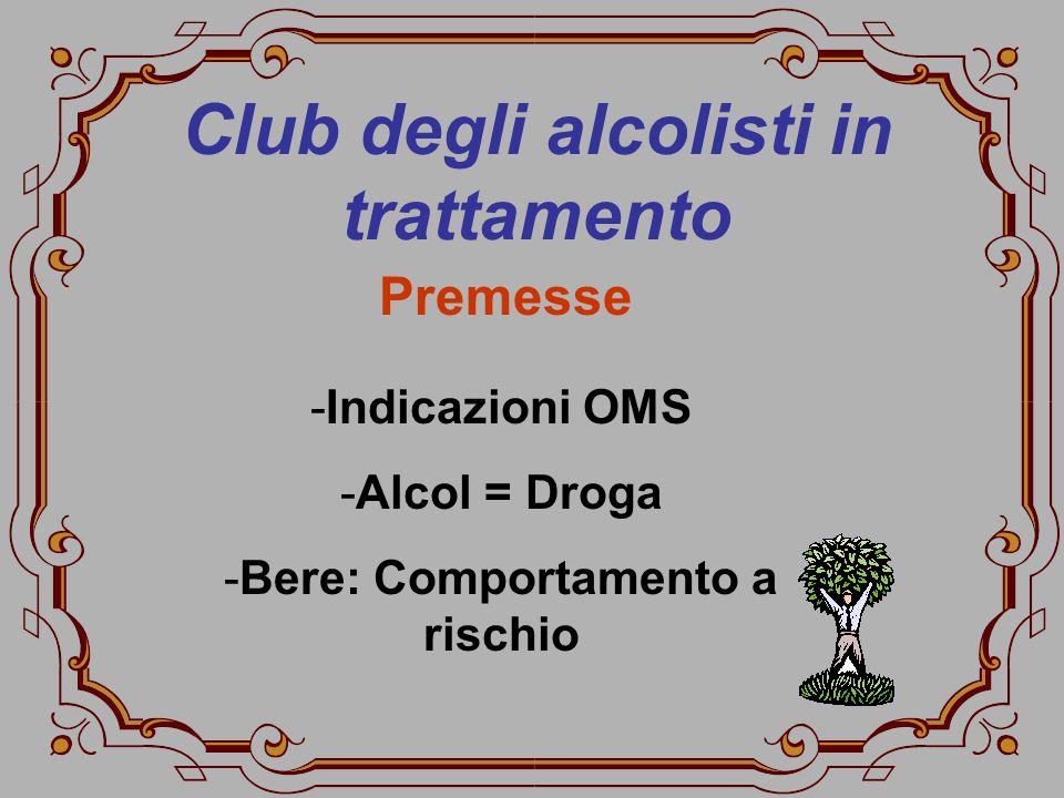 Club degli alcolisti in trattamento Bere: Comportamento a rischio