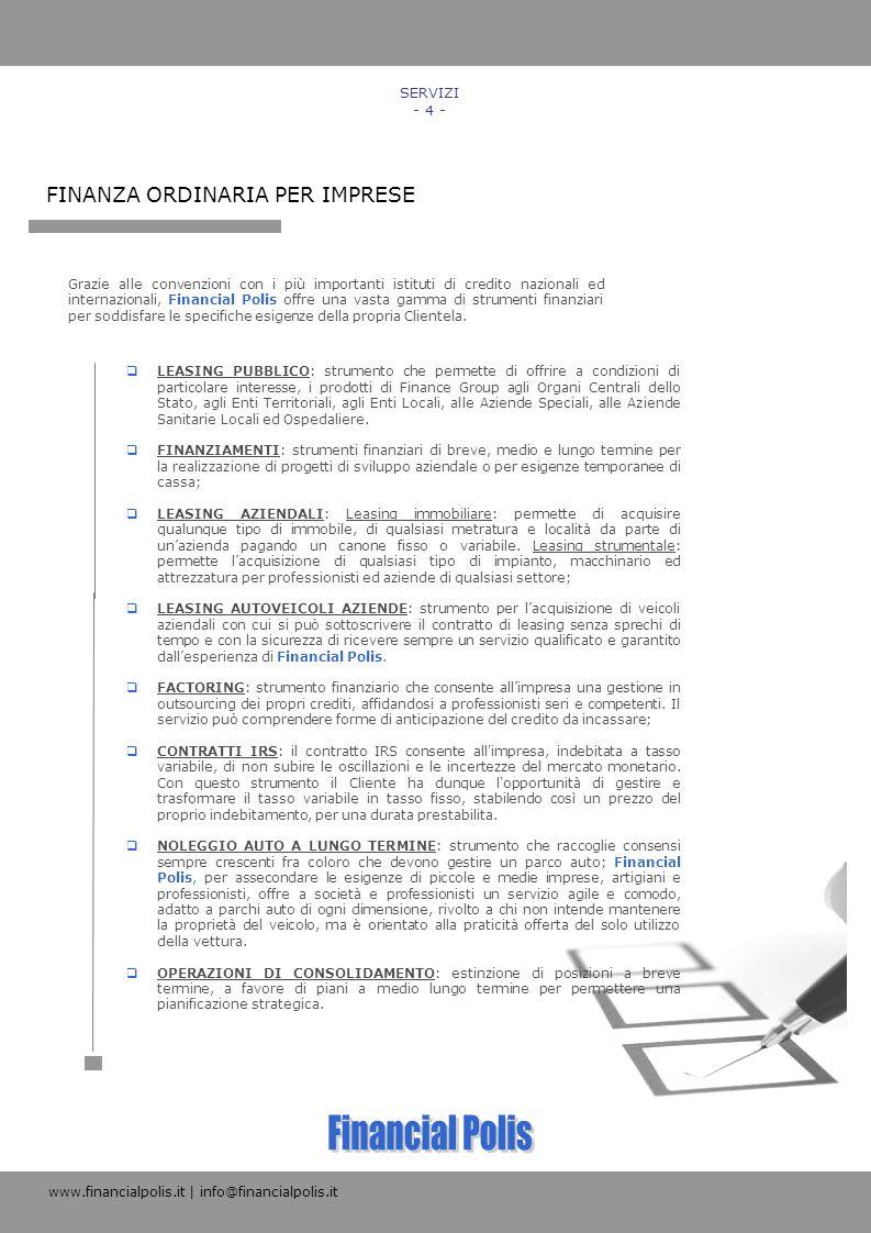 Financial Polis FINANZA ORDINARIA PER IMPRESE SERVIZI - 4 -