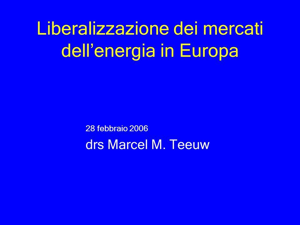 Liberalizzazione dei mercati dell'energia in Europa