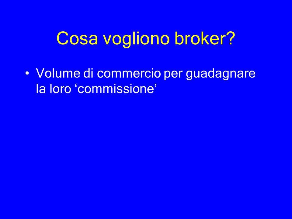 Cosa vogliono broker Volume di commercio per guadagnare la loro 'commissione'