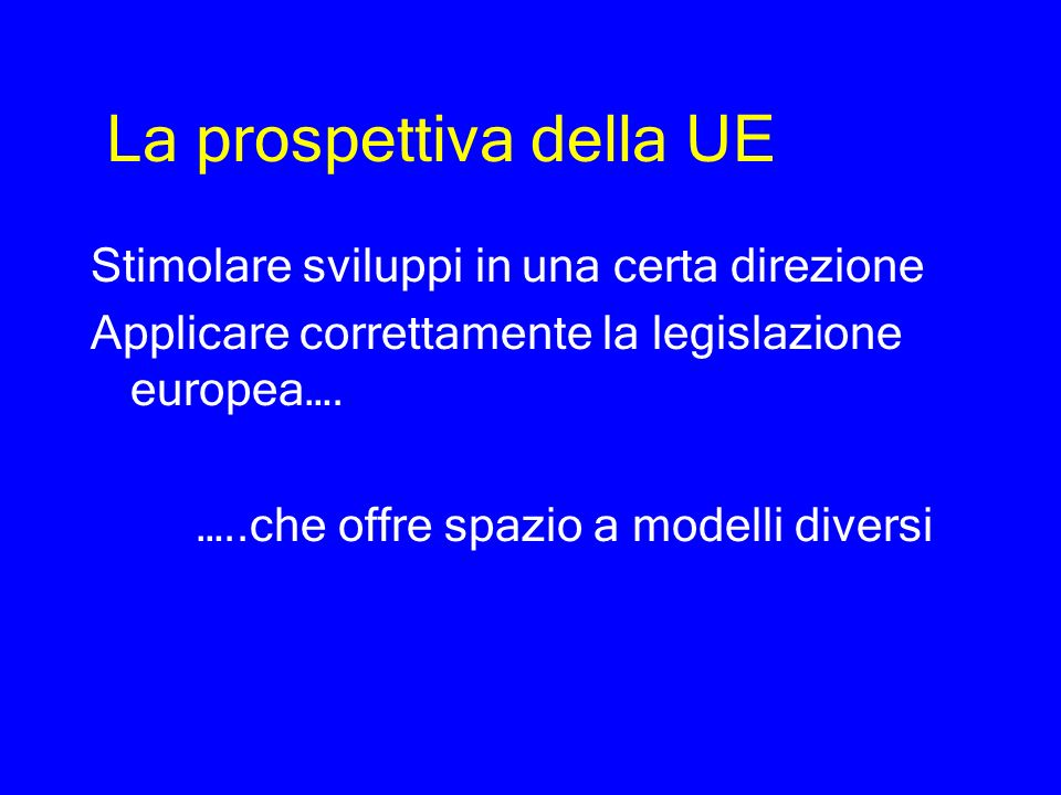 La prospettiva della UE