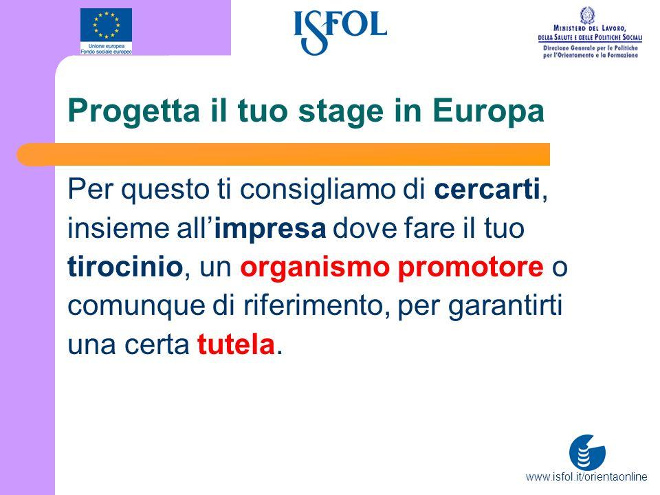 Progetta il tuo stage in Europa
