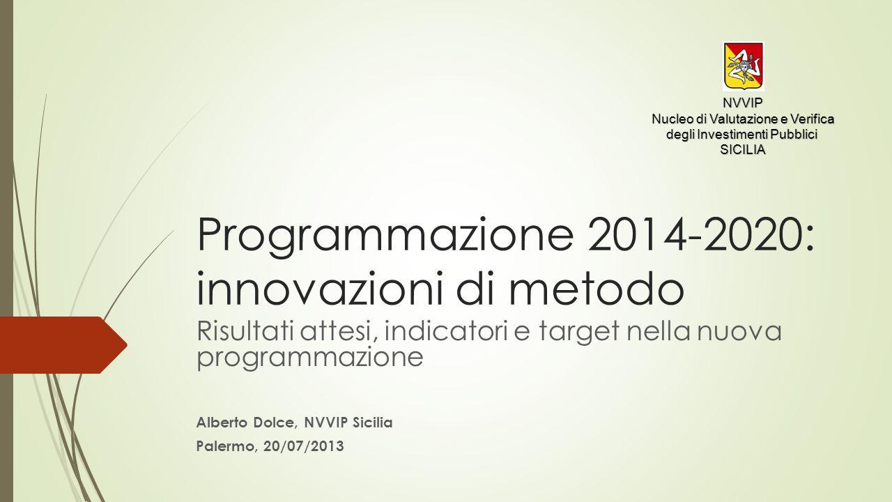 Programmazione 2014-2020: innovazioni di metodo