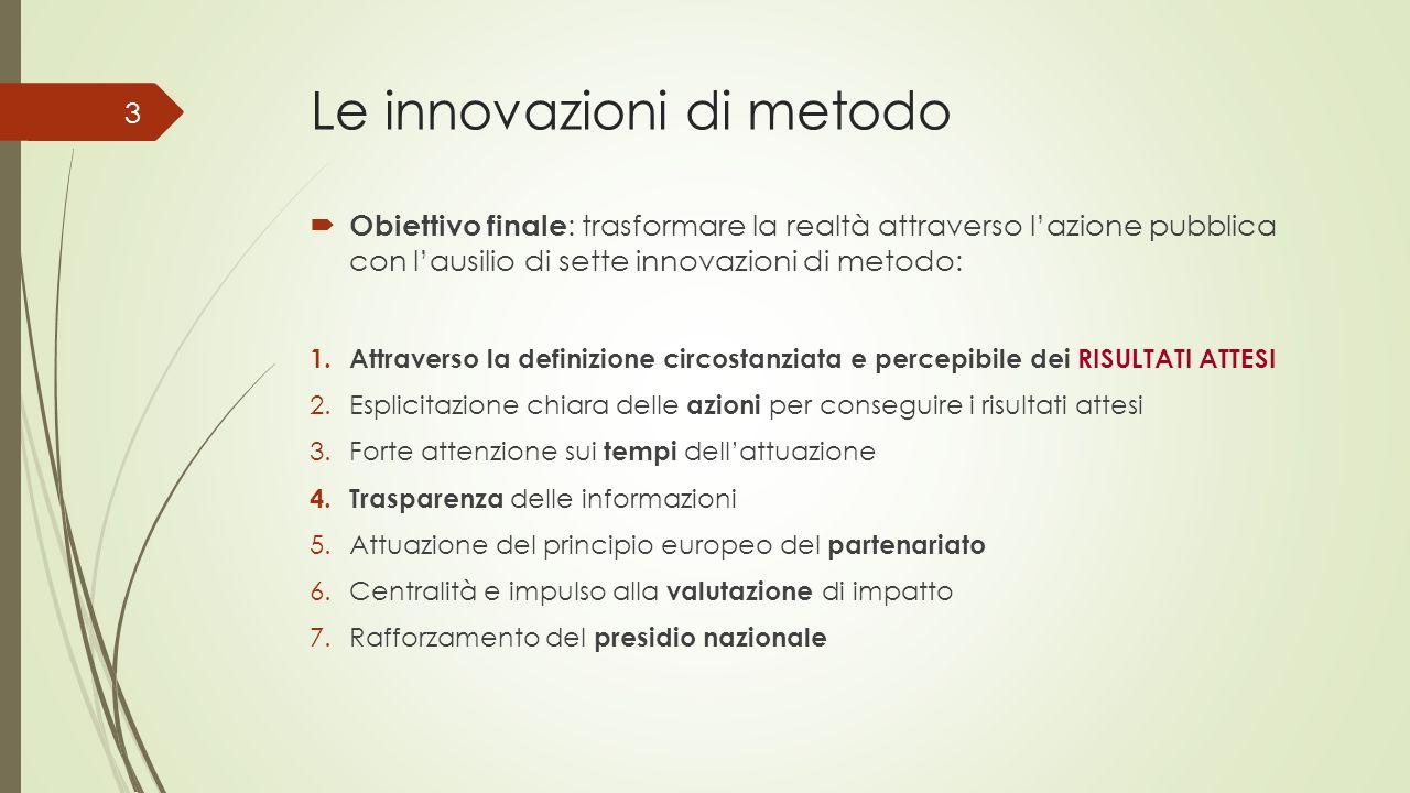 Le innovazioni di metodo