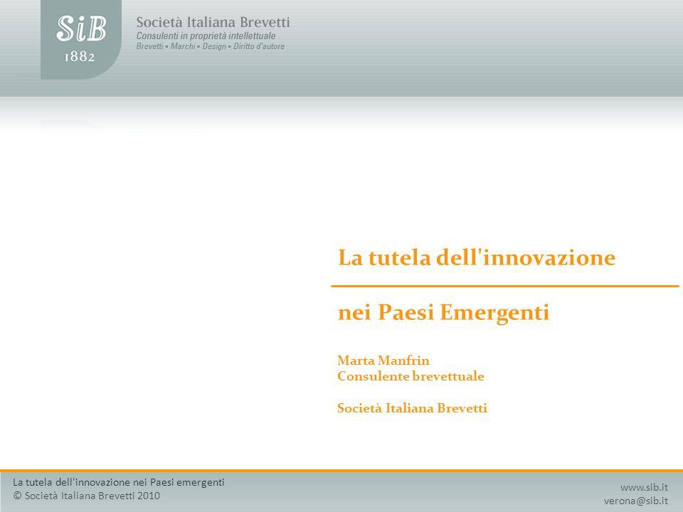 La tutela dell innovazione nei Paesi Emergenti