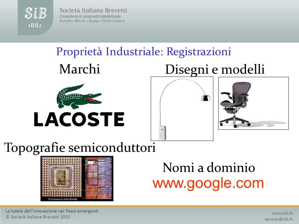 Proprietà Industriale: Registrazioni
