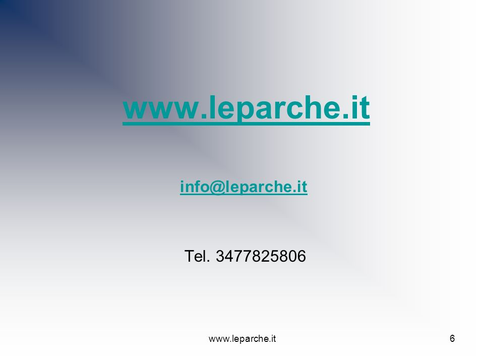 www.leparche.it info@leparche.it Tel. 3477825806 www.leparche.it