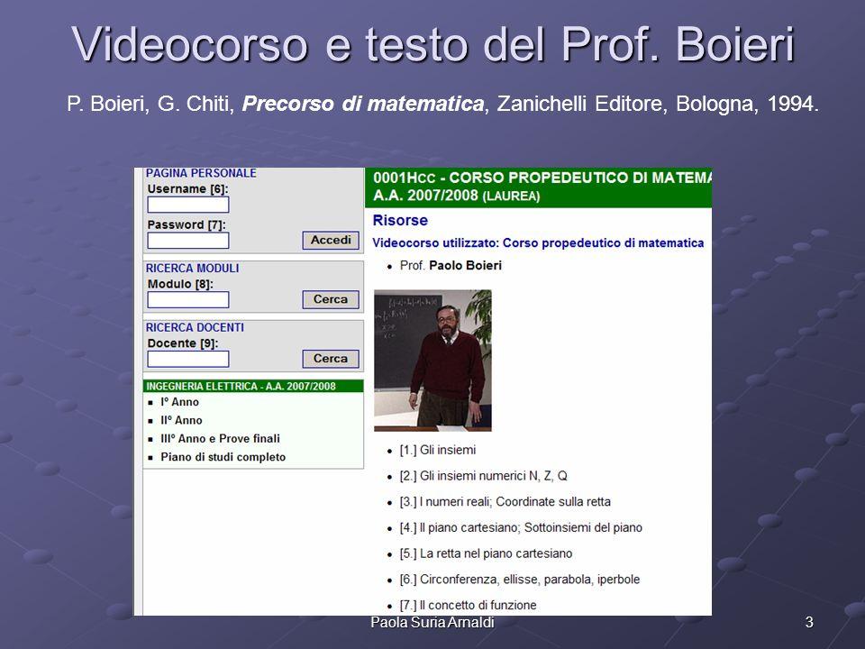 Videocorso e testo del Prof. Boieri