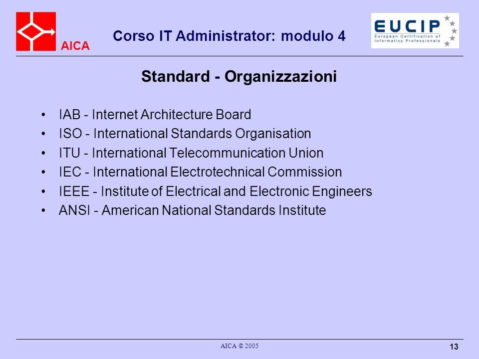 Standard - Organizzazioni