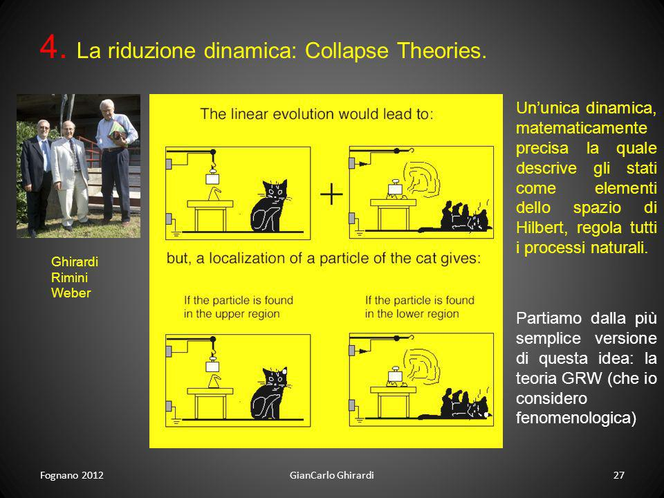 4. La riduzione dinamica: Collapse Theories.