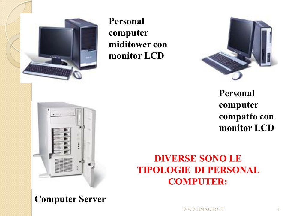 DIVERSE SONO LE TIPOLOGIE DI PERSONAL COMPUTER: