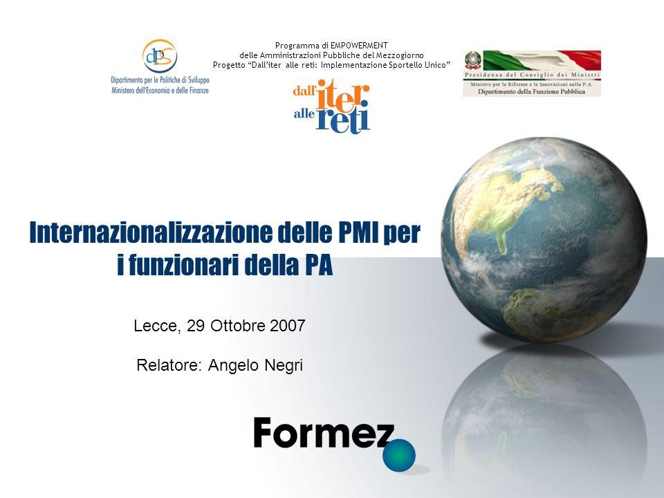 Internazionalizzazione delle PMI per i funzionari della PA