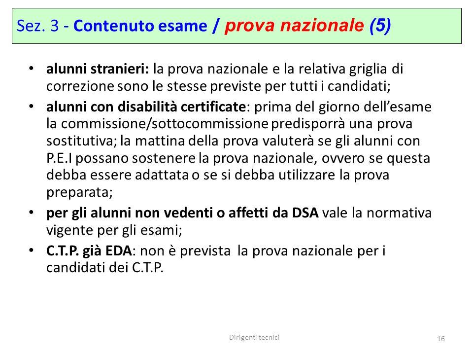 Sez. 3 - Contenuto esame / prova nazionale (5)