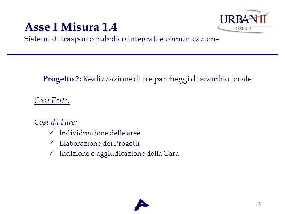 Progetto 2: Realizzazione di tre parcheggi di scambio locale