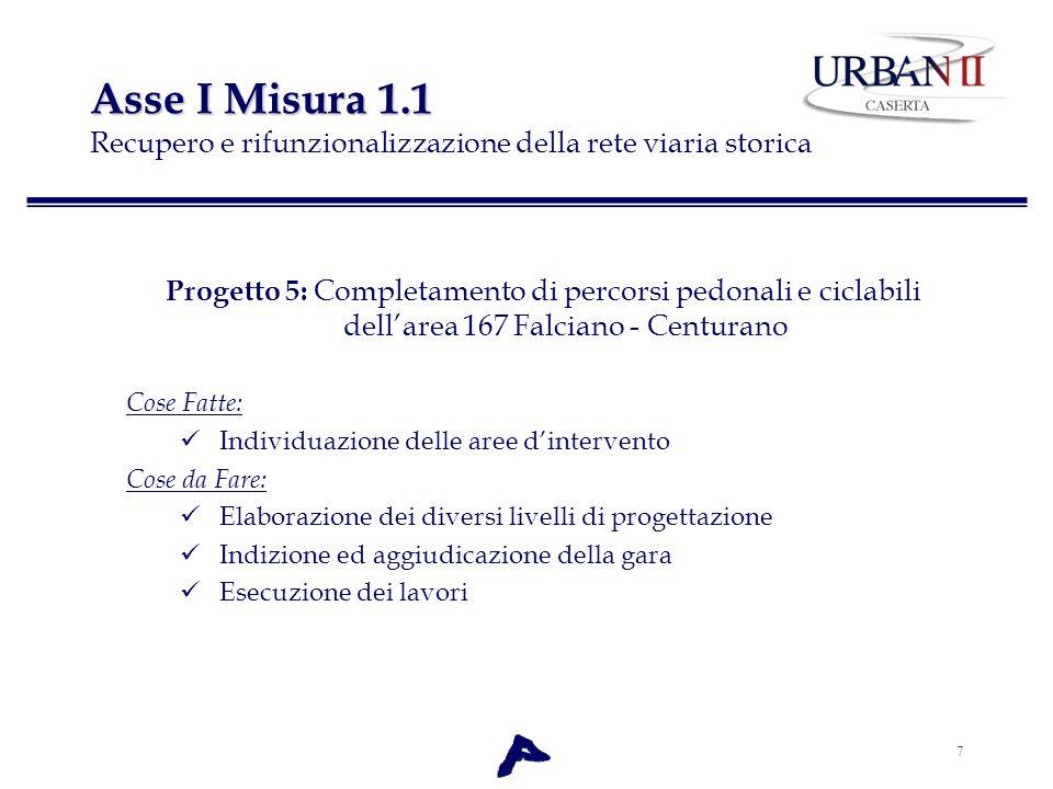 Asse I Misura 1.1 Recupero e rifunzionalizzazione della rete viaria storica