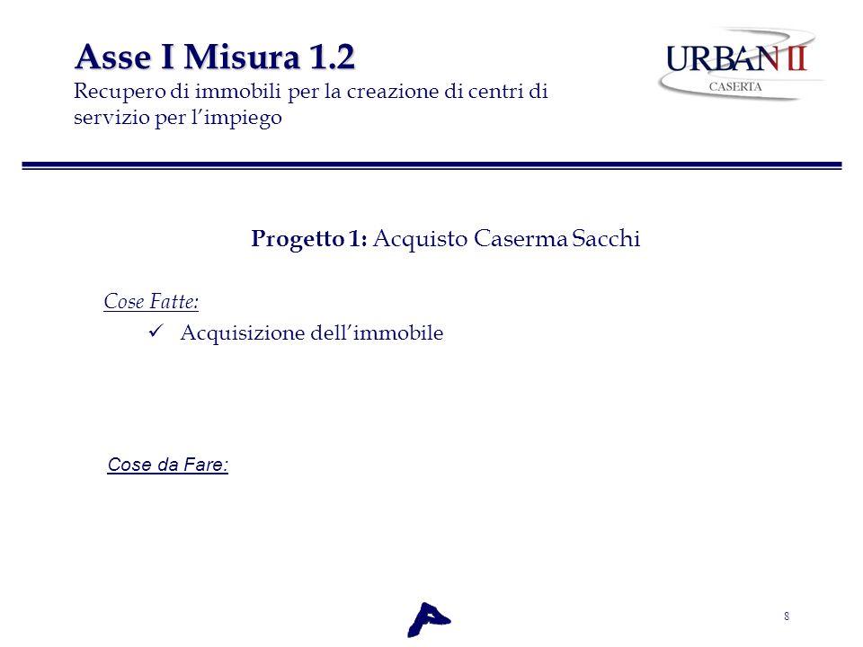 Progetto 1: Acquisto Caserma Sacchi