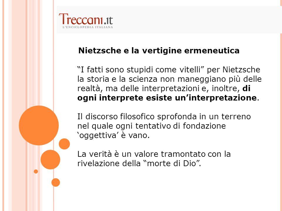 Nietzsche e la vertigine ermeneutica