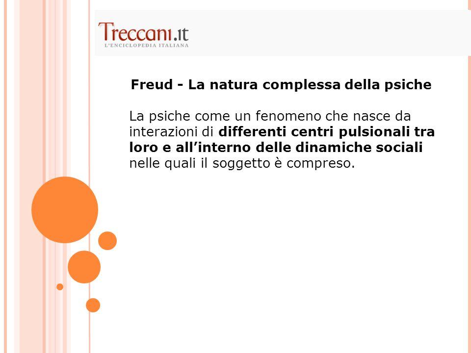 Freud - La natura complessa della psiche