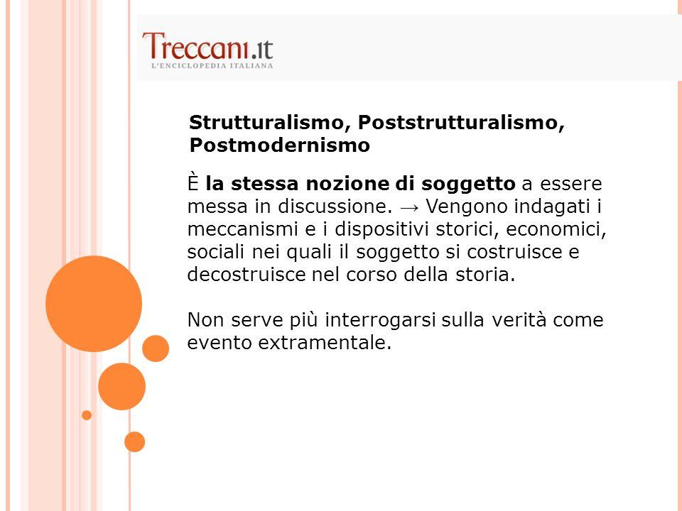 Strutturalismo, Poststrutturalismo, Postmodernismo