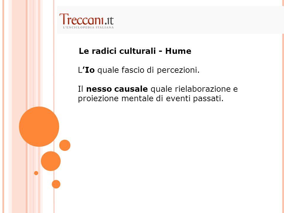 Le radici culturali - Hume