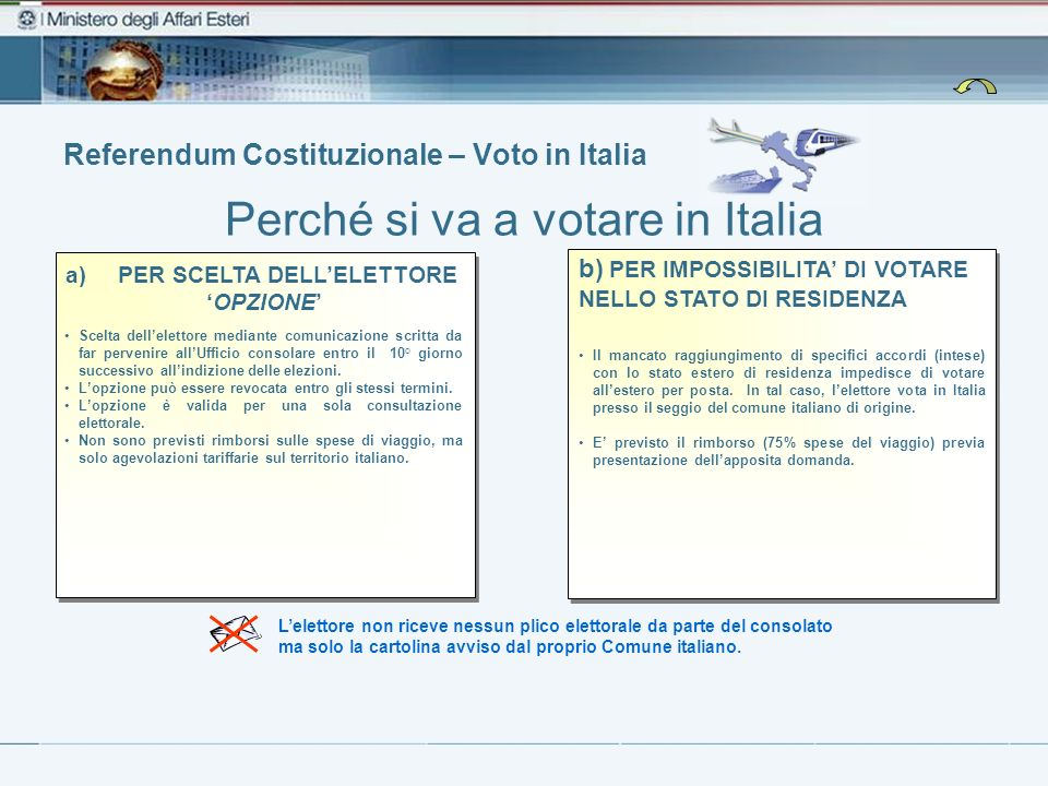 Referendum Costituzionale – Voto in Italia