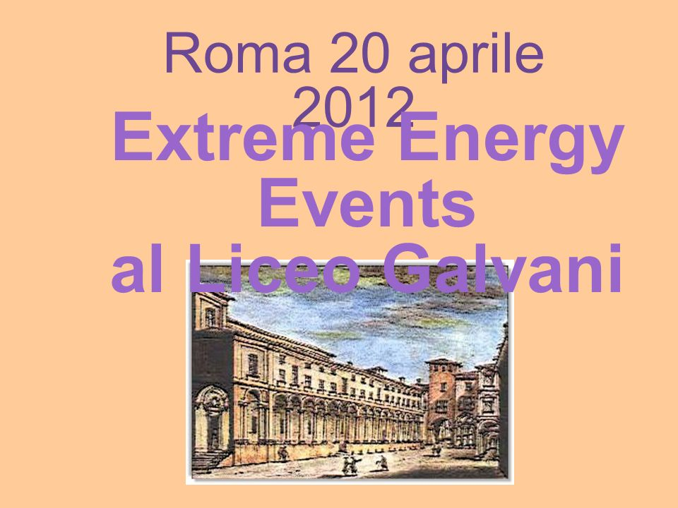 Extreme Energy Events al Liceo Galvani