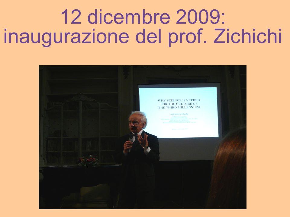 inaugurazione del prof. Zichichi